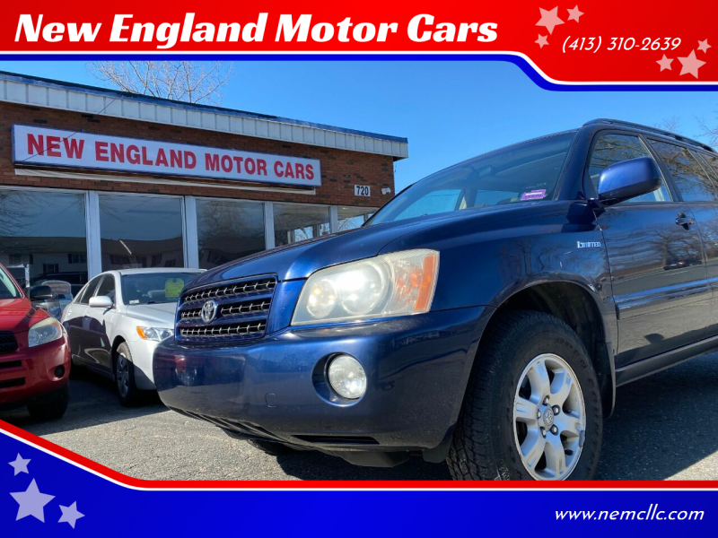 2003 Toyota Highlander for sale at New England Motor Cars in Springfield MA