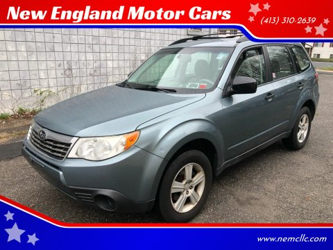2010 Subaru Forester for sale at New England Motor Cars in Springfield MA