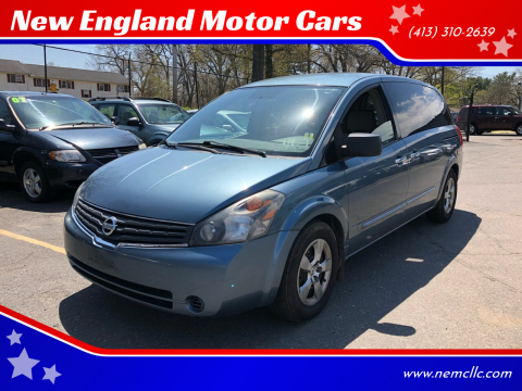 2009 Nissan Quest for sale at New England Motor Cars in Springfield MA
