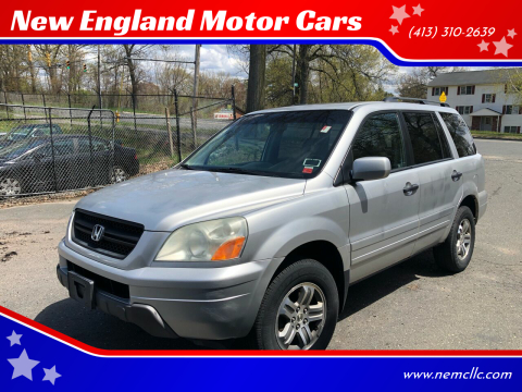 2005 Honda Pilot for sale at New England Motor Cars in Springfield MA
