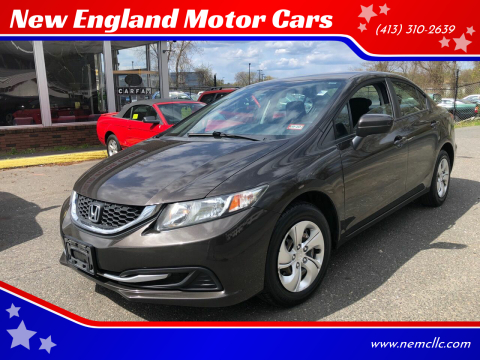 2014 Honda Civic for sale at New England Motor Cars in Springfield MA