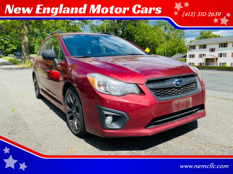 2012 Subaru Impreza for sale at New England Motor Cars in Springfield MA