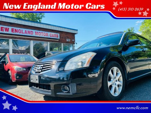 2008 Nissan Maxima for sale at New England Motor Cars in Springfield MA