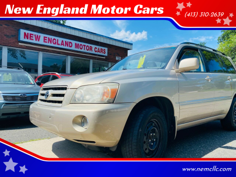 2006 Toyota Highlander for sale at New England Motor Cars in Springfield MA