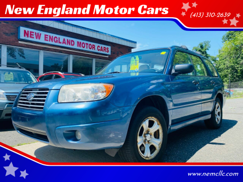 2007 Subaru Forester for sale at New England Motor Cars in Springfield MA