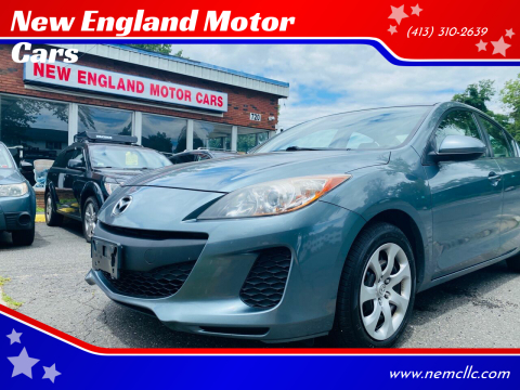 2012 Mazda MAZDA3 for sale at New England Motor Cars in Springfield MA