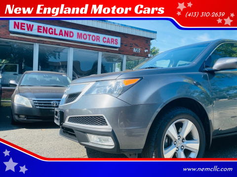 2011 Acura MDX for sale at New England Motor Cars in Springfield MA