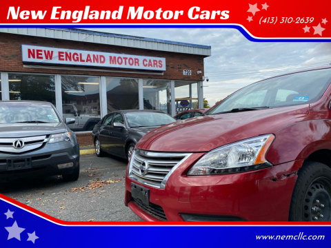 2014 Nissan Sentra for sale at New England Motor Cars in Springfield MA