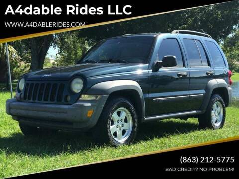 2006 Jeep Liberty Sport for sale at A4dable Rides LLC in Haines City FL