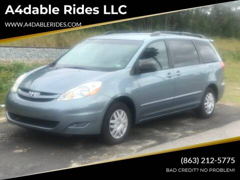 2008 Toyota Sienna LE 7-Passenger for sale at A4dable Rides LLC in Haines City FL