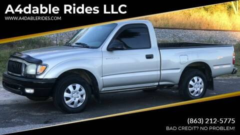 2002 Toyota Tacoma for sale at A4dable Rides LLC in Haines City FL