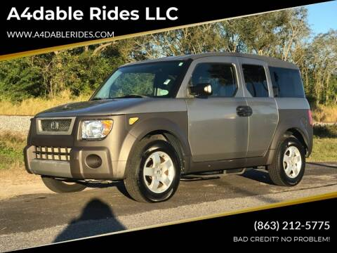 2003 Honda Element EX for sale at A4dable Rides LLC in Haines City FL