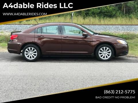 2013 Chrysler 200 Touring for sale at A4dable Rides LLC in Haines City FL