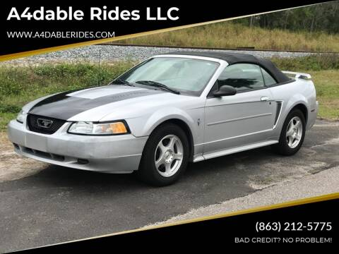 2003 Ford Mustang Deluxe for sale at A4dable Rides LLC in Haines City FL