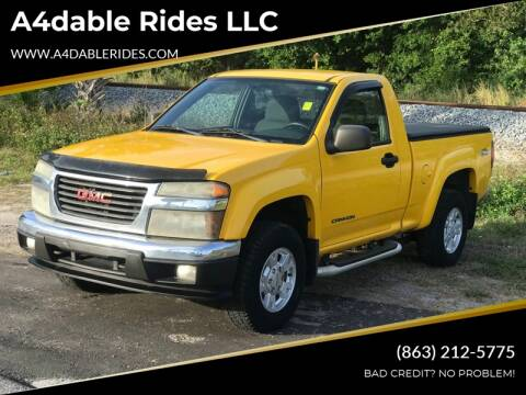 2004 GMC Canyon Z71 SLE for sale at A4dable Rides LLC in Haines City FL