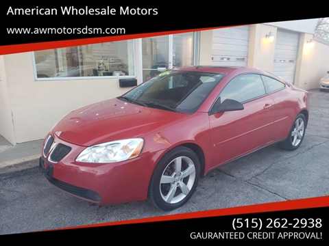 2006 Pontiac G6 for sale in Des Moines, IA