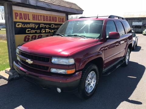 2004 Chevrolet Tahoe for sale at Paul Hiltbrand Auto Sales LTD in Cicero NY