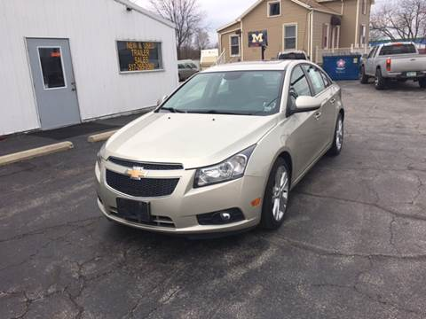 2013 Chevrolet Cruze for sale at Autos Unlimited, LLC in Adrian MI