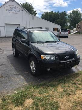 2006 Ford Escape for sale at Autos Unlimited, LLC in Adrian MI