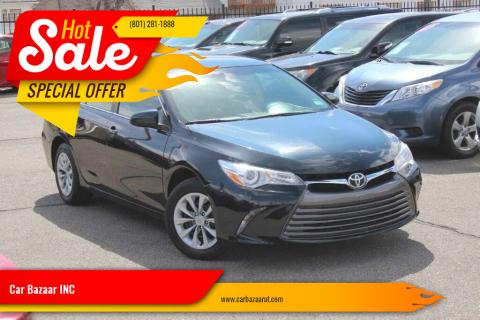 2015 Toyota Camry for sale at Car Bazaar INC in Salt Lake City UT