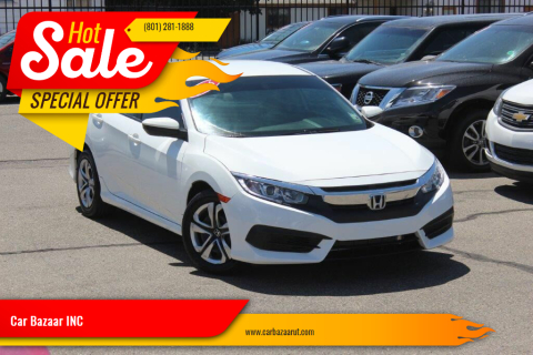 2016 Honda Civic for sale at Car Bazaar INC in Salt Lake City UT