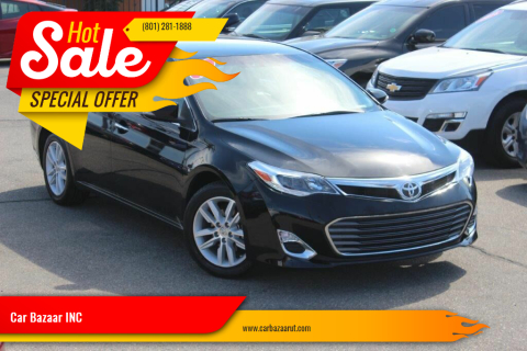 2013 Toyota Avalon for sale at Car Bazaar INC in Salt Lake City UT