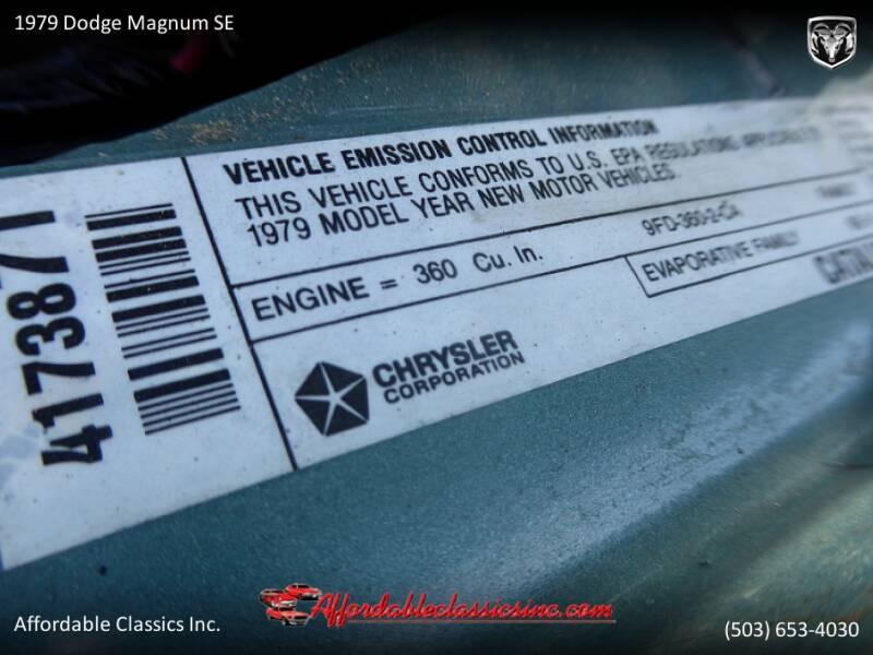 1979 Dodge Magnum SE 58