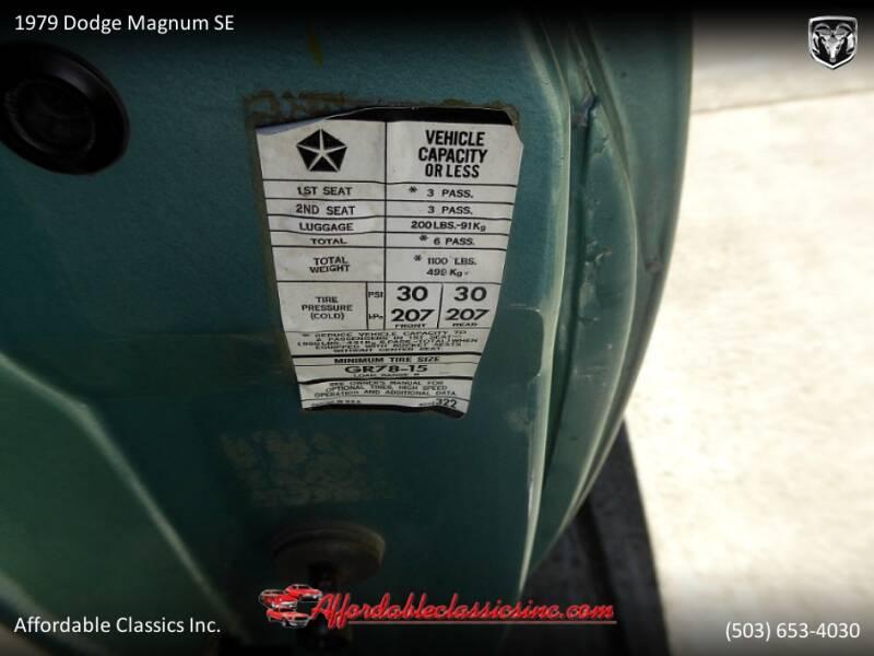 1979 Dodge Magnum SE 62