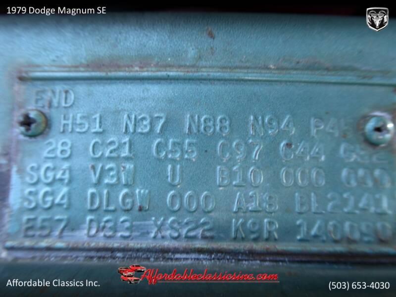 1979 Dodge Magnum SE 57