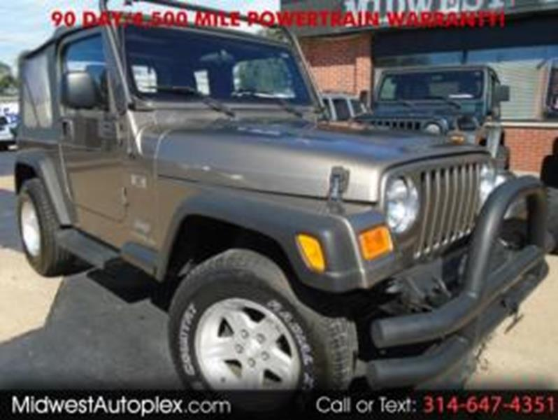 2004 Jeep Wrangler For Sale At Midwest Autoplex In Saint Louis MO