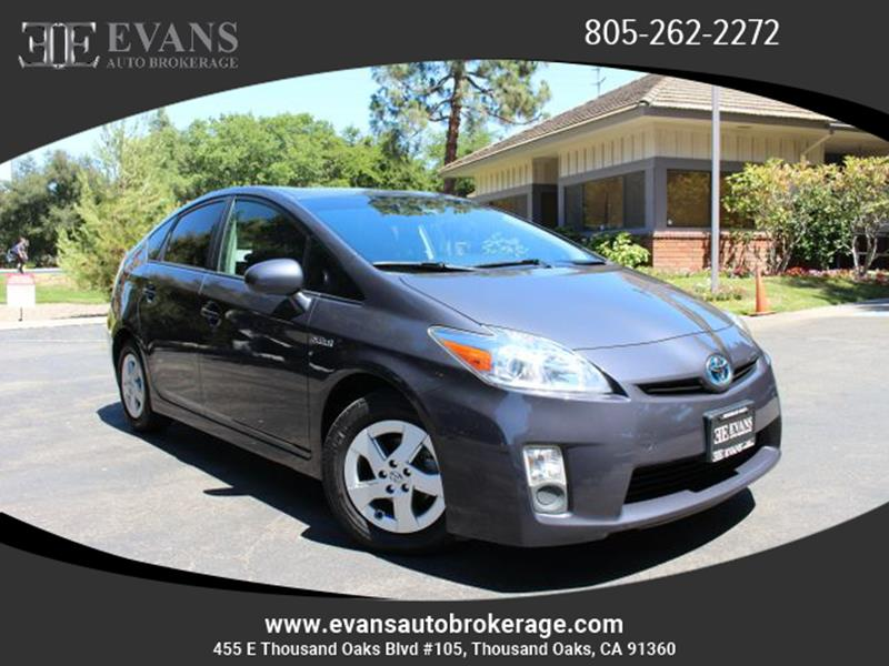 2010 Toyota Prius For Sale At Evans Auto Brokerage U0026 Sales In Thousand Oaks  CA