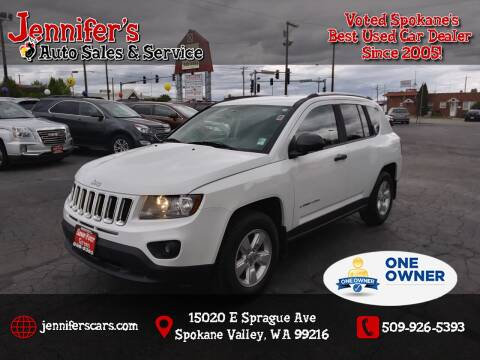 2015 Jeep Compass for sale at Jennifer's Auto Sales in Spokane Valley WA