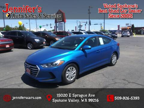 2017 Hyundai Elantra for sale at Jennifer's Auto Sales in Spokane Valley WA