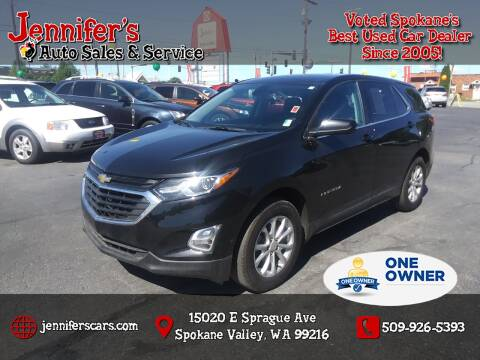 2018 Chevrolet Equinox for sale at Jennifer's Auto Sales in Spokane Valley WA