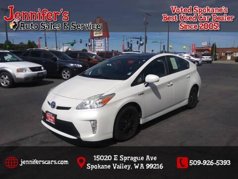 2012 Toyota Prius for sale at Jennifer's Auto Sales in Spokane Valley WA