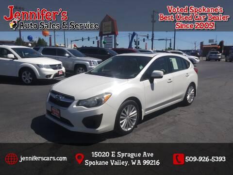 2013 Subaru Impreza for sale at Jennifer's Auto Sales in Spokane Valley WA
