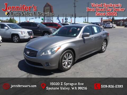 2012 Infiniti M35h for sale at Jennifer's Auto Sales in Spokane Valley WA