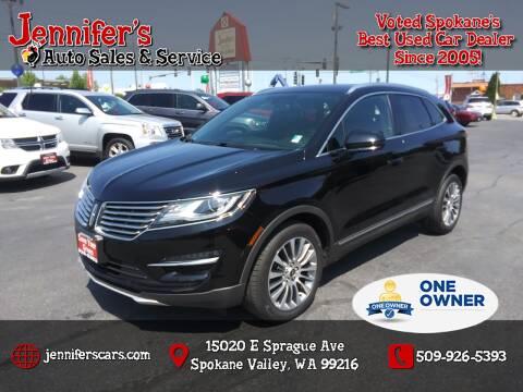 2017 Lincoln MKC for sale at Jennifer's Auto Sales in Spokane Valley WA
