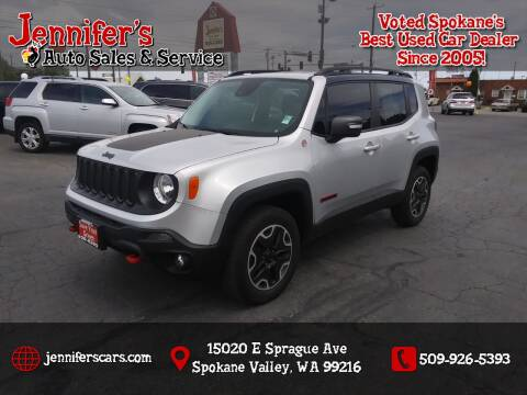 2016 Jeep Renegade for sale at Jennifer's Auto Sales in Spokane Valley WA
