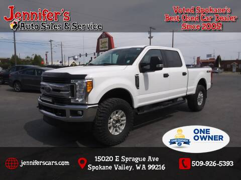 2017 Ford F-250 Super Duty for sale at Jennifer's Auto Sales in Spokane Valley WA