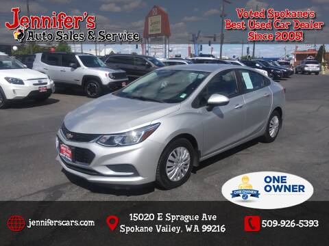 2017 Chevrolet Cruze for sale at Jennifer's Auto Sales in Spokane Valley WA