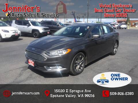 2017 Ford Fusion for sale at Jennifer's Auto Sales in Spokane Valley WA