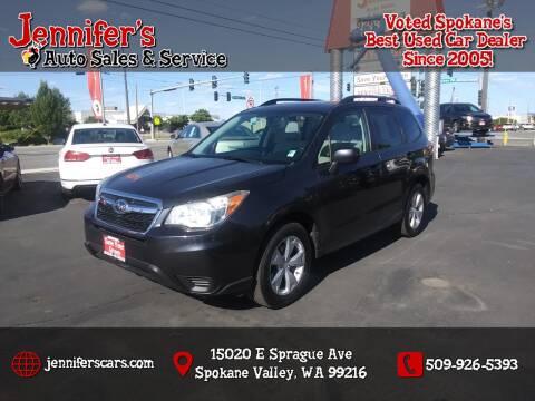 2014 Subaru Forester for sale at Jennifer's Auto Sales in Spokane Valley WA