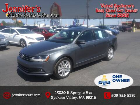 2017 Volkswagen Jetta for sale at Jennifer's Auto Sales in Spokane Valley WA
