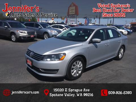 2014 Volkswagen Passat for sale at Jennifer's Auto Sales in Spokane Valley WA