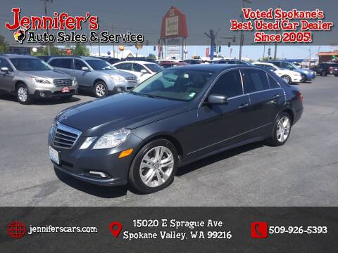 2010 Mercedes-Benz E-Class for sale at Jennifer's Auto Sales in Spokane Valley WA