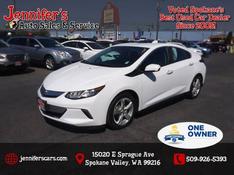 2017 Chevrolet Volt for sale at Jennifer's Auto Sales in Spokane Valley WA