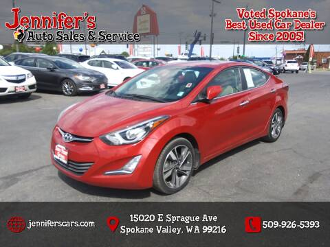 2014 Hyundai Elantra for sale at Jennifer's Auto Sales in Spokane Valley WA