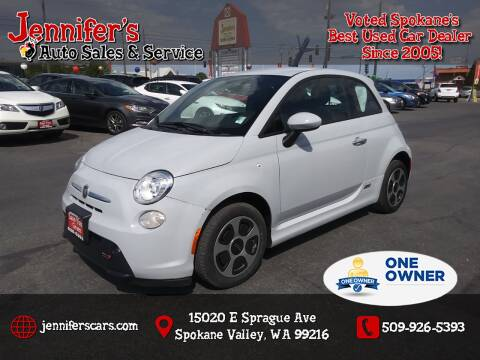 2017 FIAT 500e for sale at Jennifer's Auto Sales in Spokane Valley WA