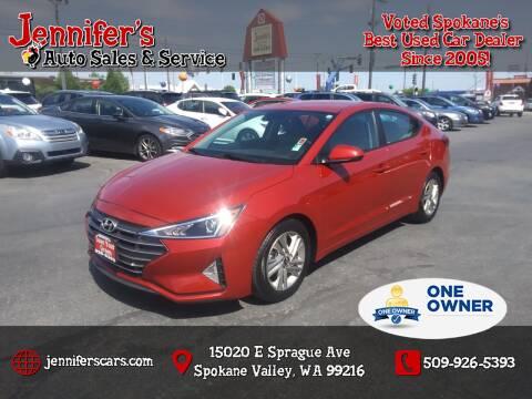 2019 Hyundai Elantra for sale at Jennifer's Auto Sales in Spokane Valley WA